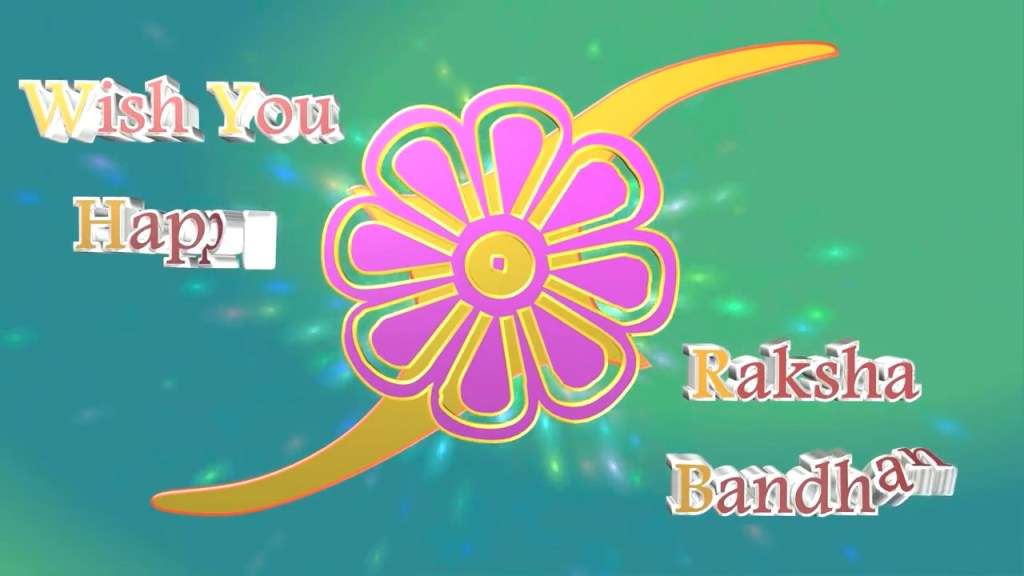 Greetings for Raksha Bandhan festival