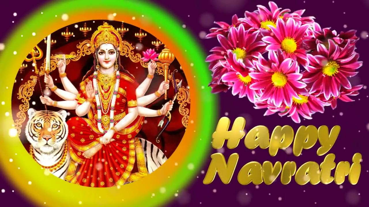 Greetings Image for Hindu festival - Navratri
